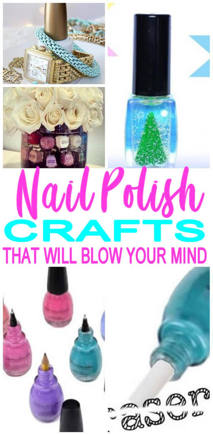 Nail-Polish-Bottle-Crafts- DIY craft projects for kids, teens, tweens and adults