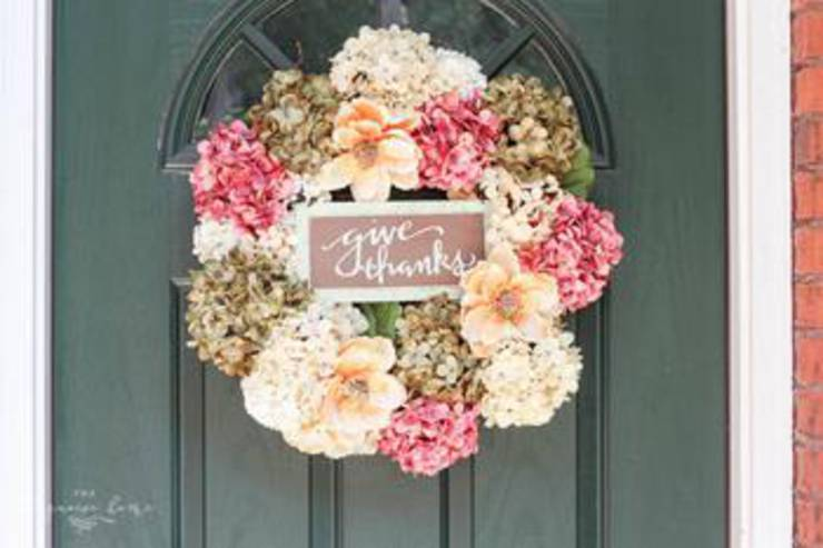 Diy Faux Hydrangea Fall Wreath