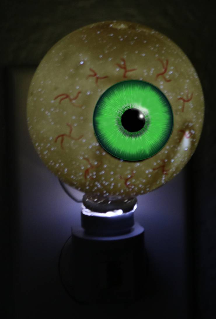 dollar store halloween decor _scary eyeball nightlight