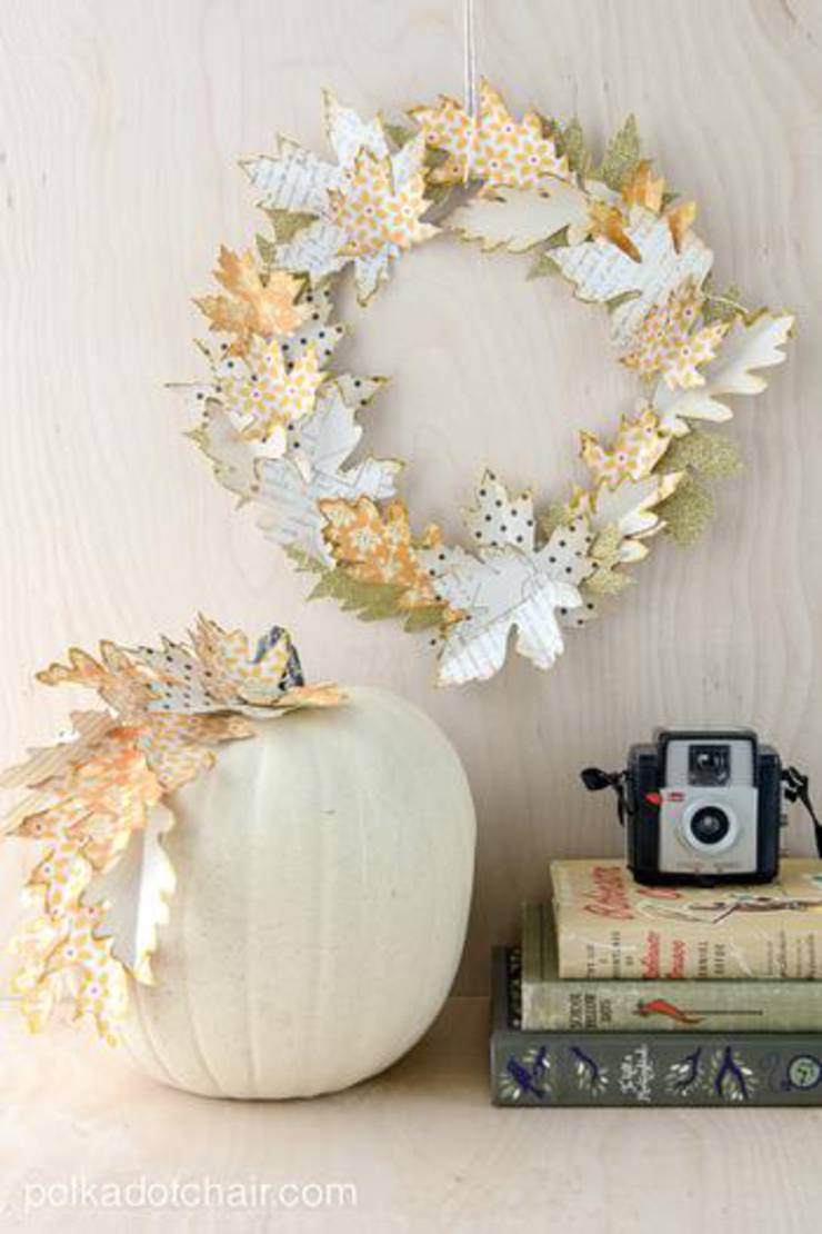 Easy Fall Wreath Idea