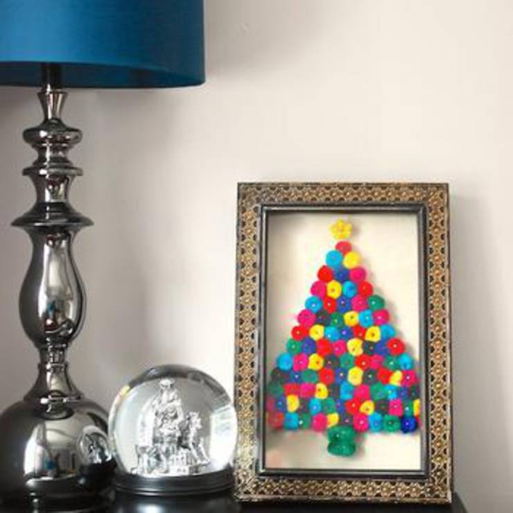 Easy Holiday Pom Pom Art