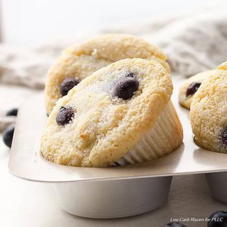 Keto Coconut Flour Blueberry Muffins