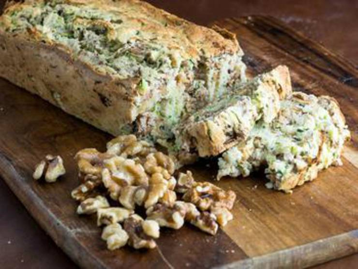 Keto Zucchini And Walnut Bread