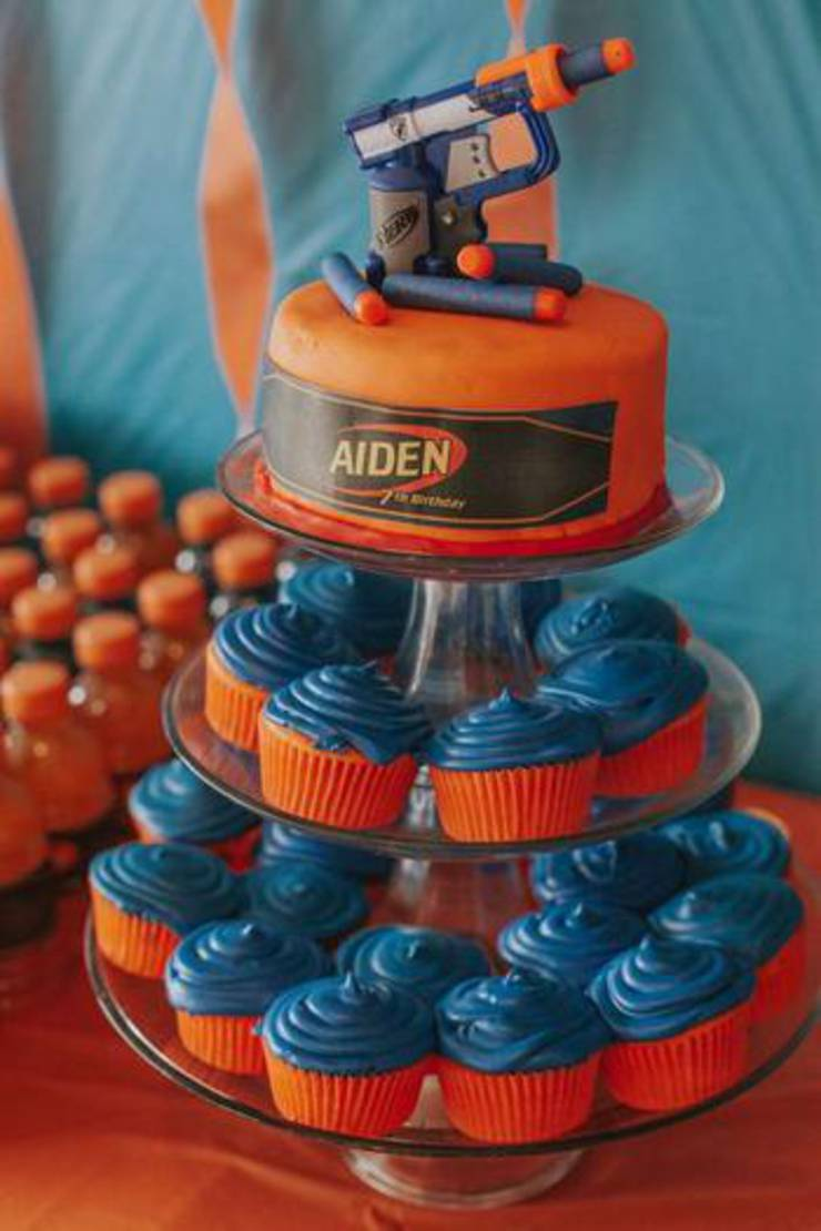 Nerf Cake And Nerf Gun Cupcake Easy Amp Simple Ideas