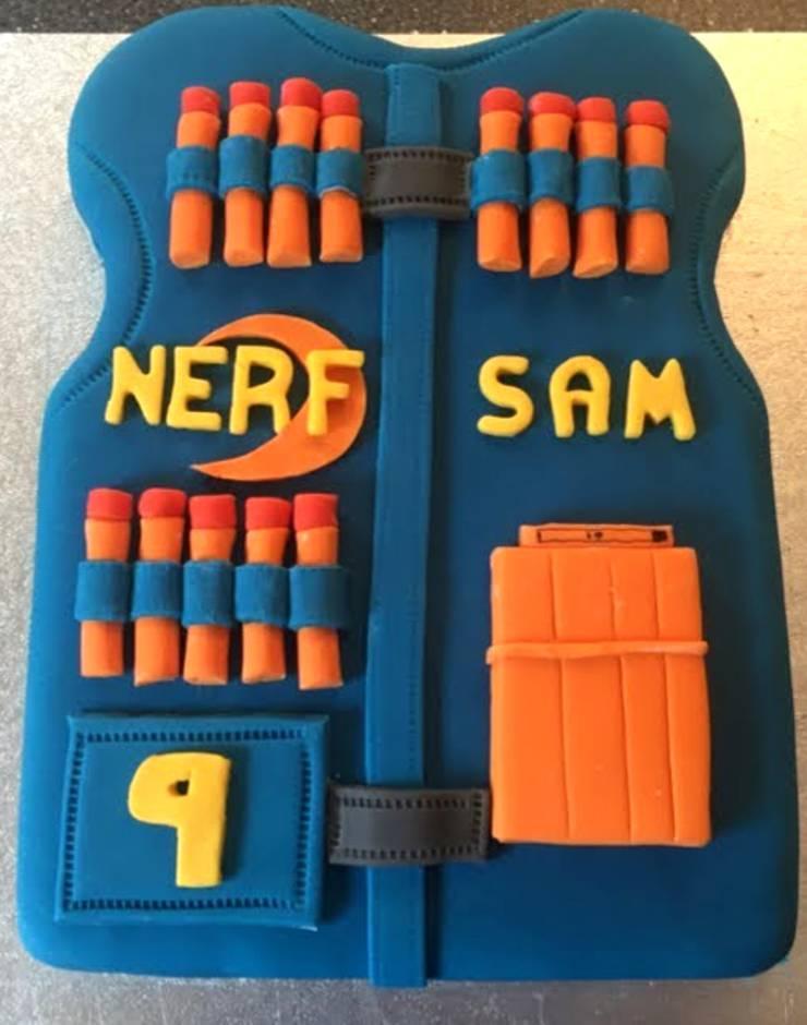 nerf gun vest cake