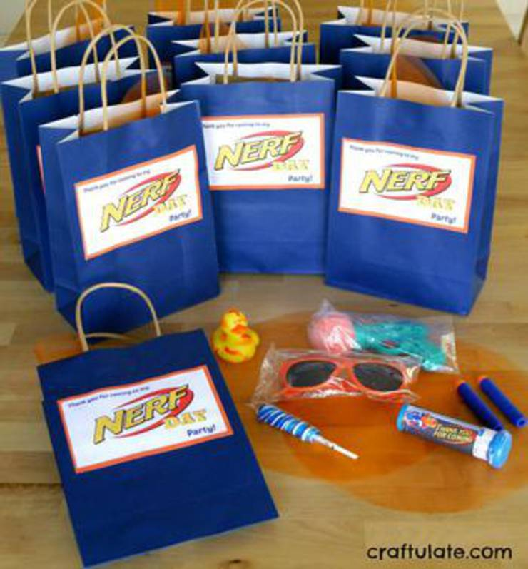 Nerf Party Favor Bags