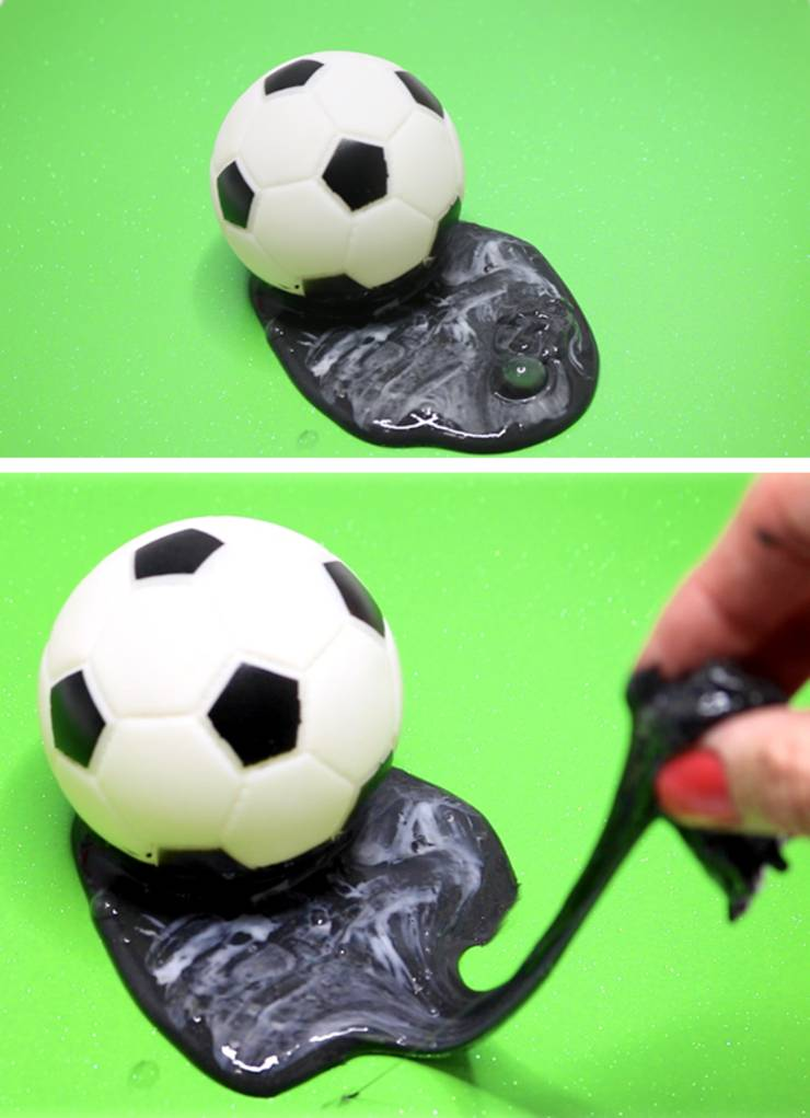 soccer ball slime recipe _ how to make slime 2 ingredient