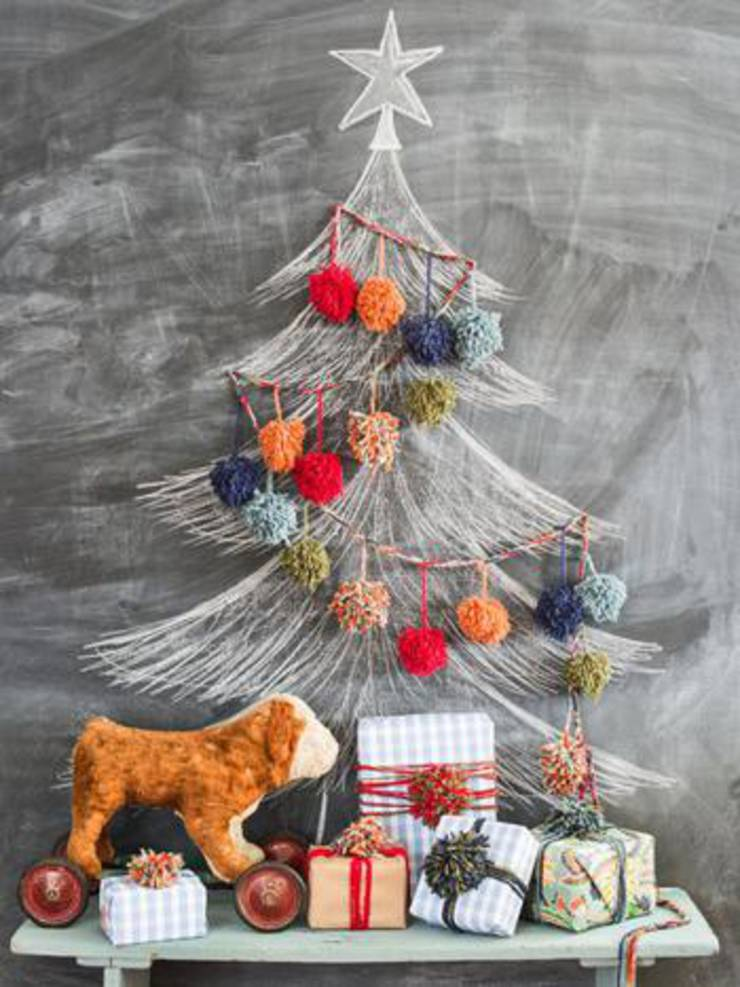 Diy Pom Pom Christmas Garland