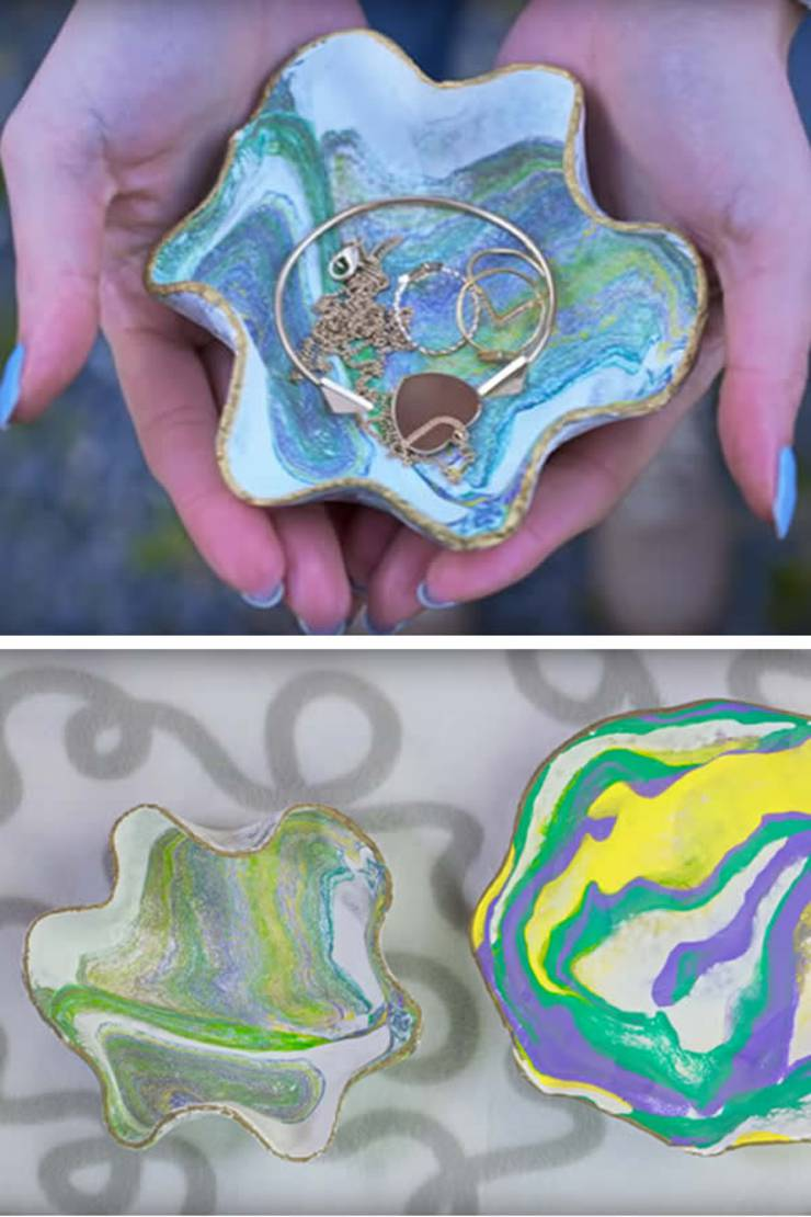 DIY Clay Bowls Are So Easy To Make And Also A Great Homemade Gift You Can Store Jewelry Keys Pins Or Other Small Items