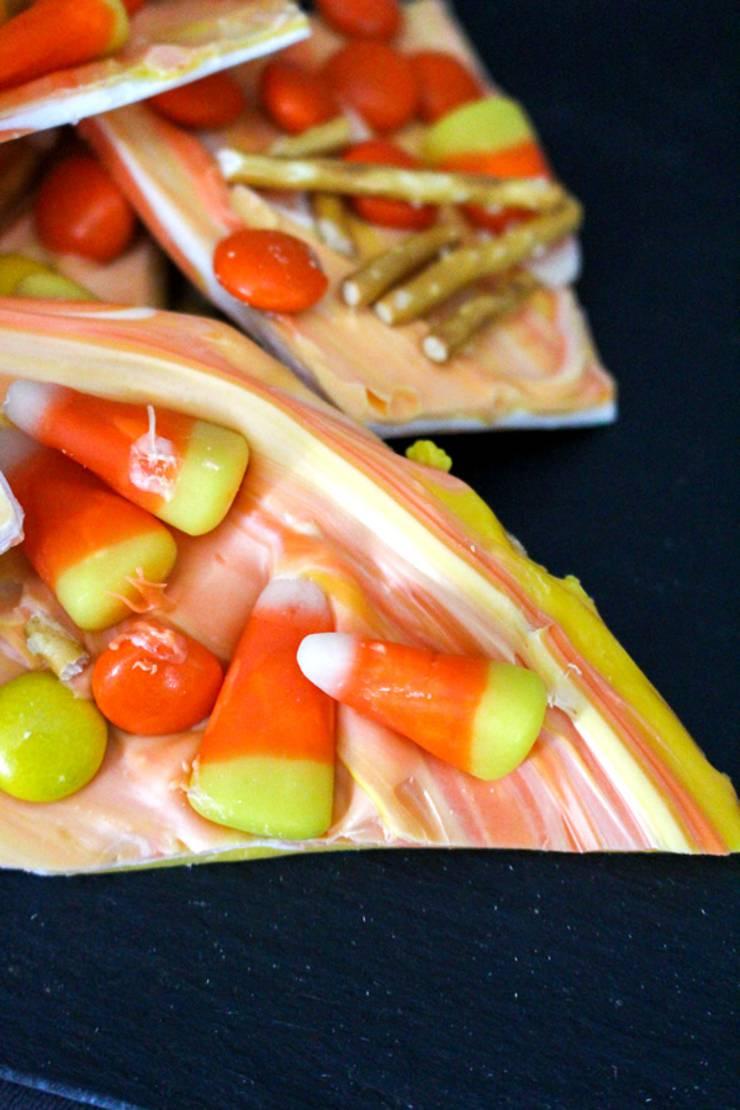 BEST Halloween Bark! Easy Candy Corn Bark Recipe - Simple Treat Idea - Halloween Party Food - Kids - Teens - Adults - For A Crowd