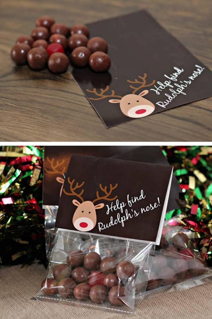 Cute Christmas Treat Bags Easy Reindeer Snack Bag Idea W Printable