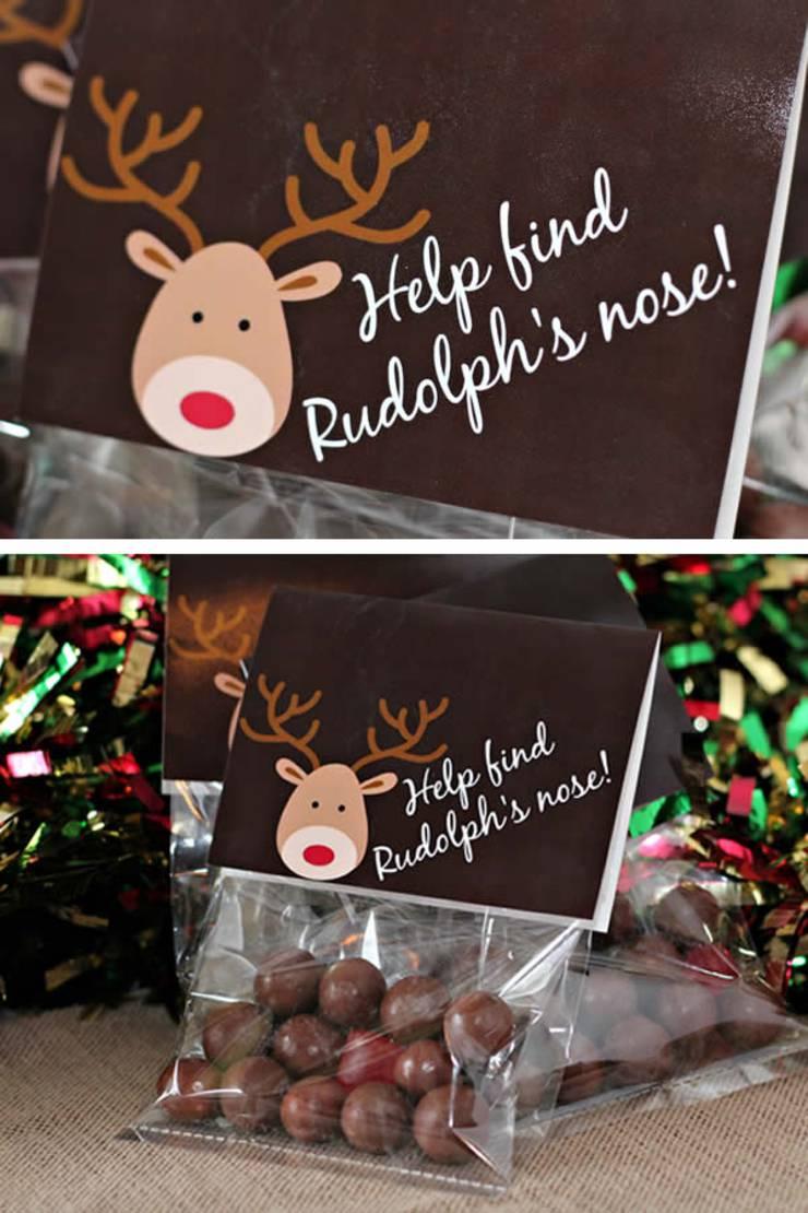 CUTE Christmas Treat Bags! EASY Reindeer Snack Bag Idea w/ Printable Bag Toppers - For Kids - School - Adults - Co Workers - Teens - Simple DIY Reindeer Craft