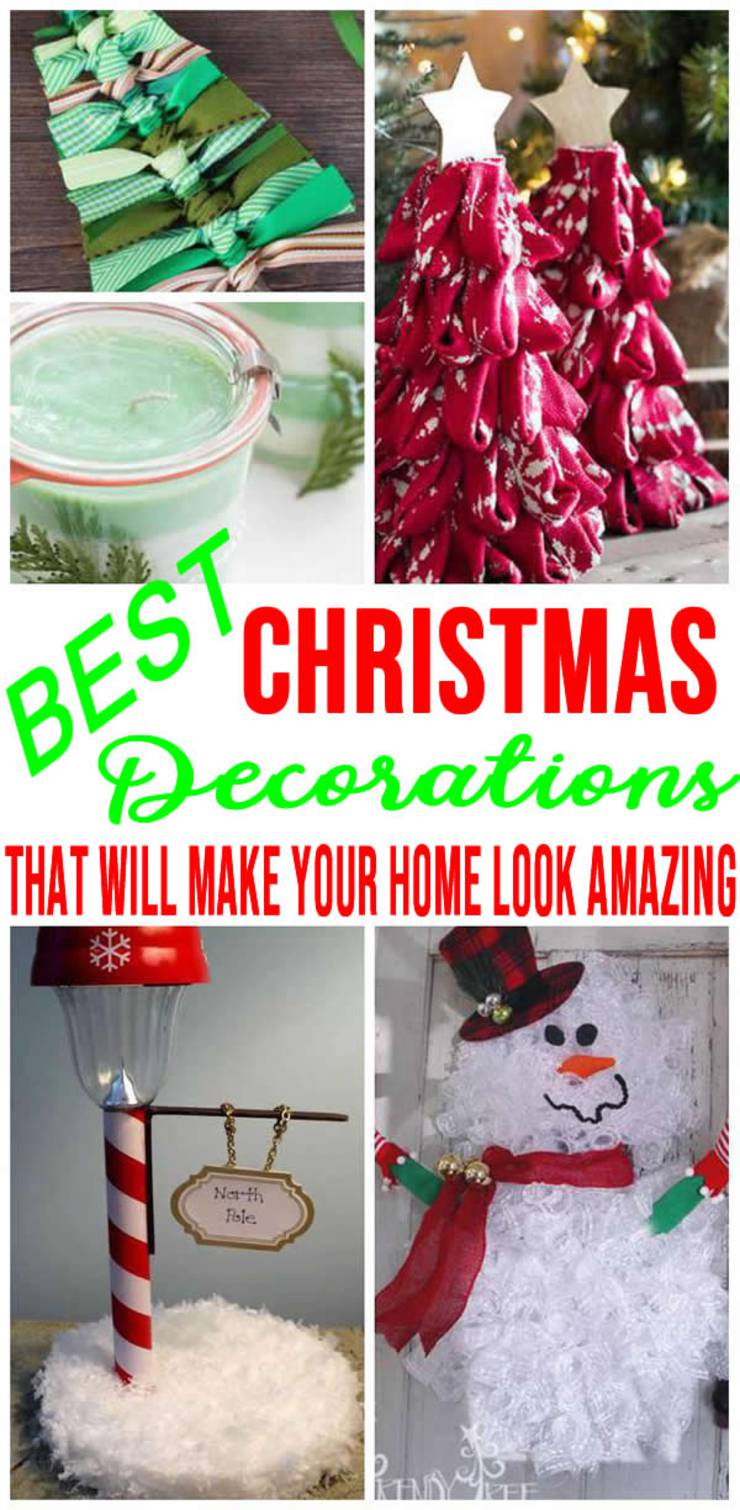 BEST Christmas Decorations! DIY Christmas Decoration Ideas - Indoor - Outdoor - Easy & Cheap For The Home - Apartment! Kids & Adults Will Love - Fun Craft Projects