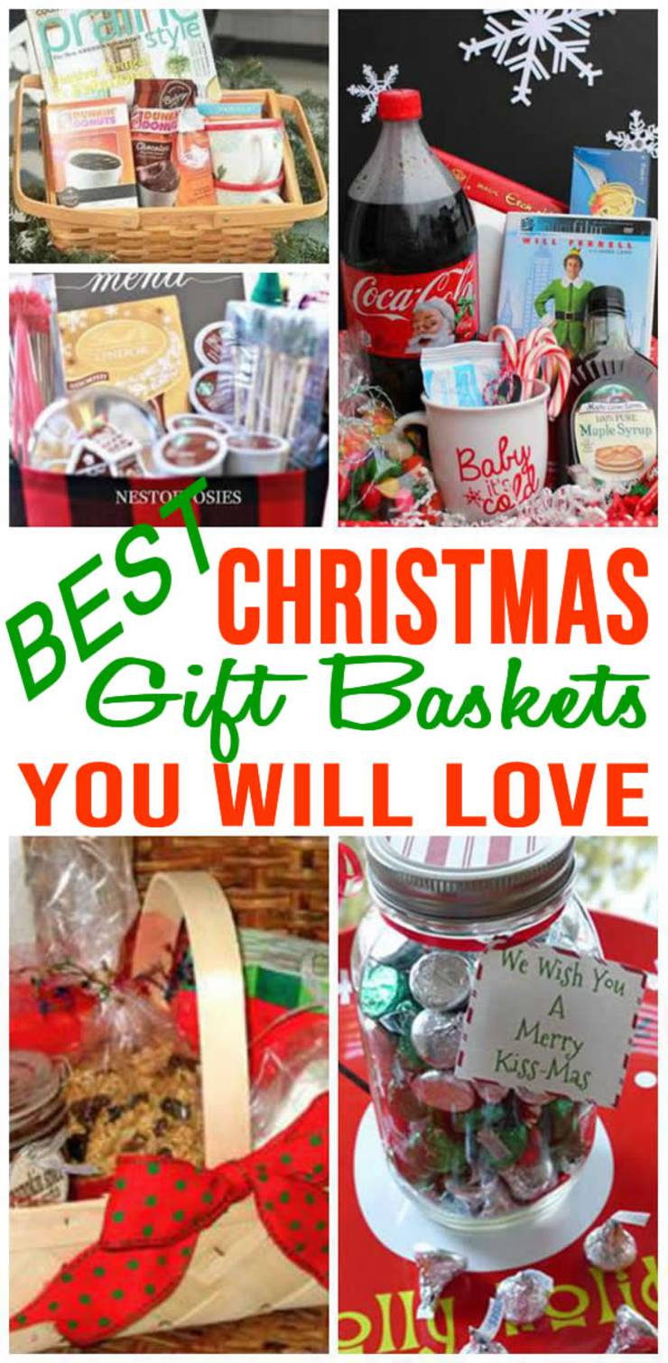 easy diy christmas gift basket ideas for family friends couples kids