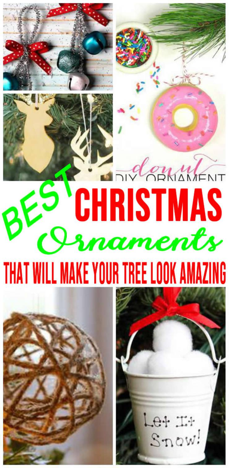 DIY Christmas Ornaments! EASY Christmas Ornament Ideas - For Kids - Adults - BEST Xmas Ornaments For Tree - For Gifts - Unique - Cheap