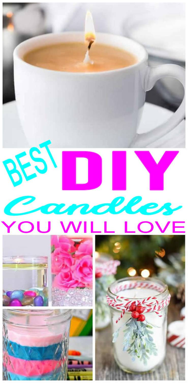AMAZING DIY Candles! BEST Candle Making Ideas - EASY Homemade Recipes - Scented - Cheap - Design & Decoration