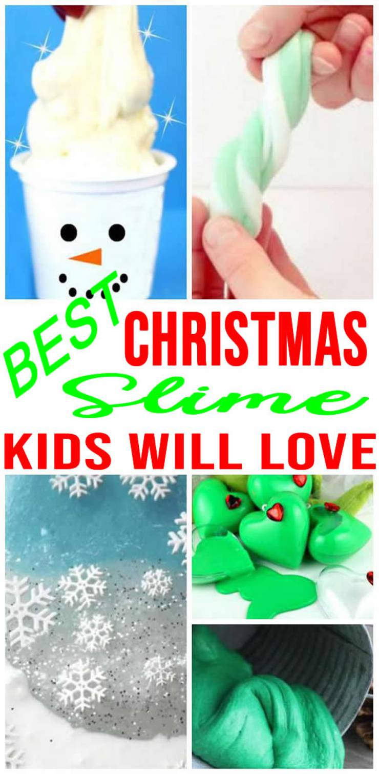 Christmas Slime! How To Make DIY Christmas Slime - Easy Homemade Recipes - Edible - Gift Ideas - Jars - Containers
