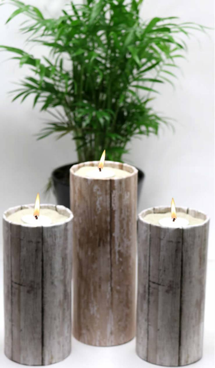 Diy Dollar Store Crafts Dollar Store Hacks Decor Projects Rustic Wood Candle Holders Easy