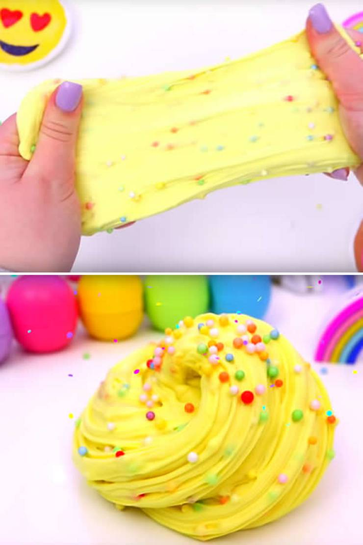 DIY Fluffy Slime Recipe How To Make Homemade Cake Batter Without Borax Ideas For Kids Parties Crafts