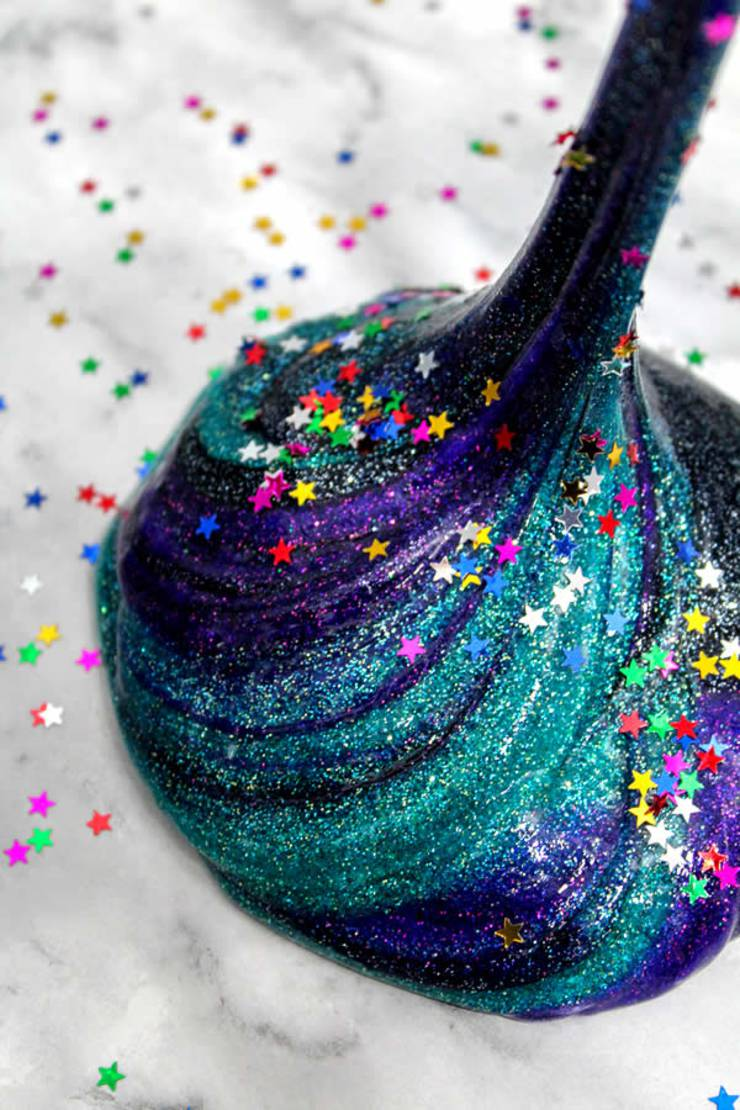 Diy Galaxy Slime How To Make Homemade
