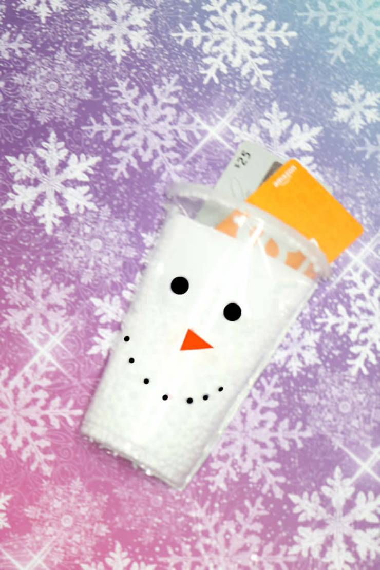 DIY Gift Card Holder_Creative Way To Give Money As A Gift_Handmade Snowman Card - EASY Holiday Craft Project