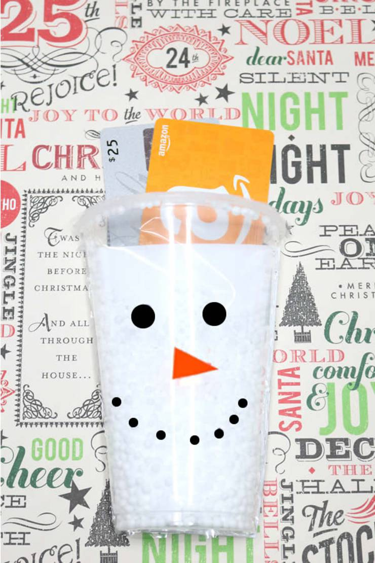 DIY Gift Card Holder | Creative Way To Give Money As A Gift | Handmade Snowman Card – EASY Holiday Craft Project