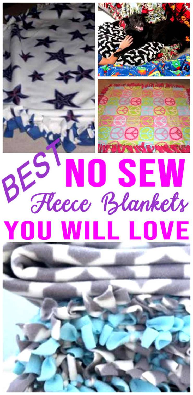 SIMPLE DIY No Sew Fleece Blankets! How To Make No Sew Fleece Blankets - Fun DIY Craft Projects - Kids - Adults - Gifts