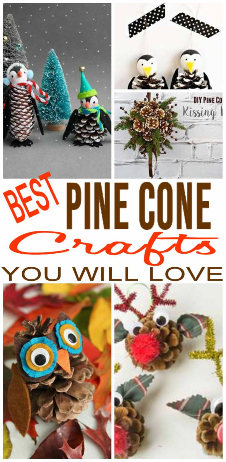 FUN Pinecone Crafts! CREATIVE Pine Cone Craft Ideas - Decorations - Christmas - Fall - For Kids - Home - How To Make DIY Craft Projects