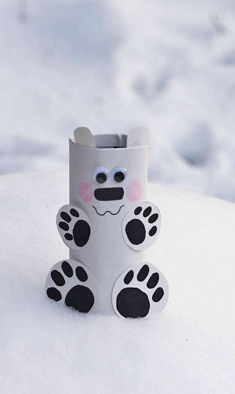 DIY Polar Bear Kids Winter Crafts