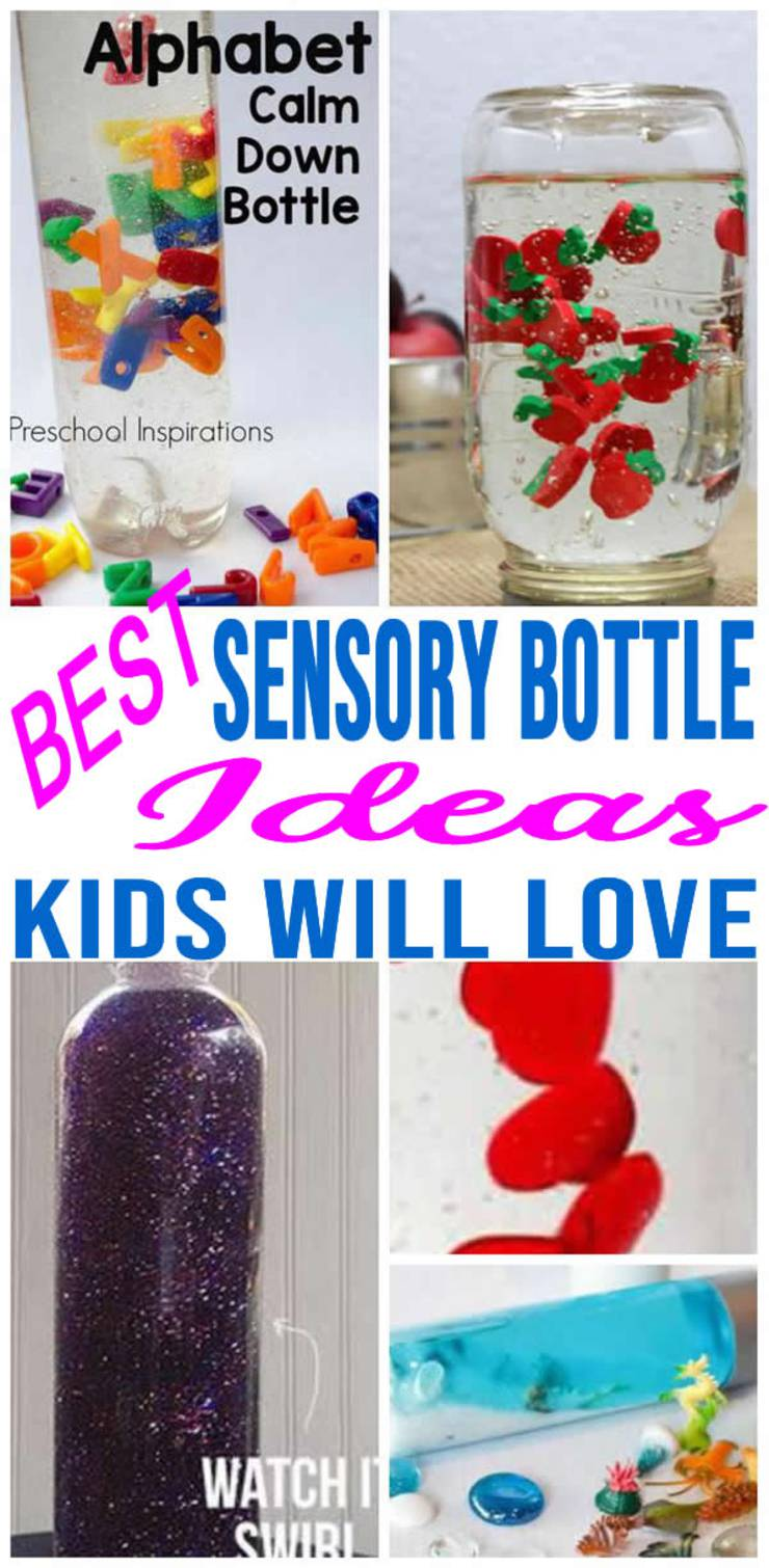 Easy Sensory Bottles Fun Diy Sensory Bottle Ideas How To Make Calm Down Jars Baby Toddlers