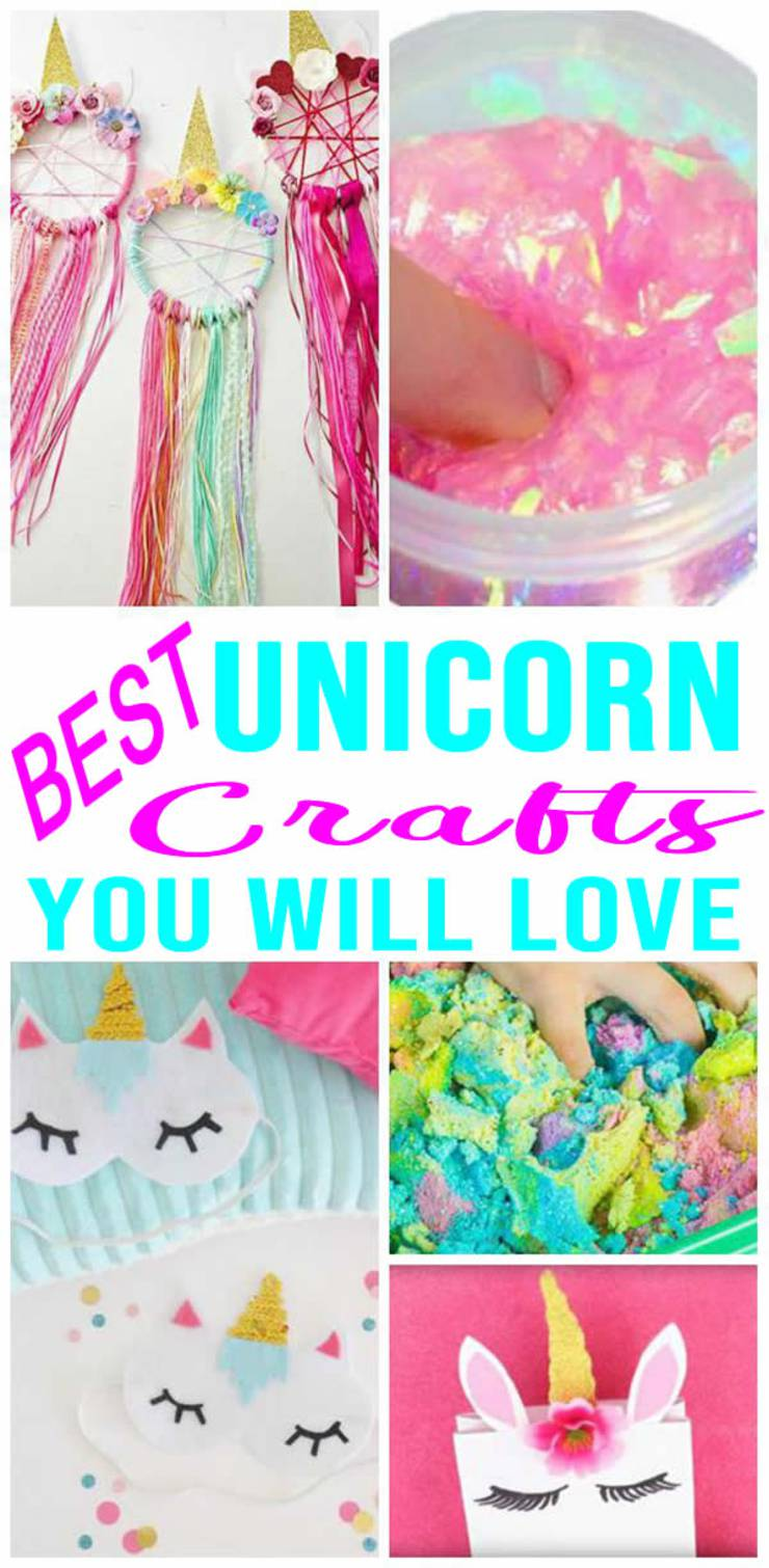 Diy Unicorn Crafts Girls Rooms