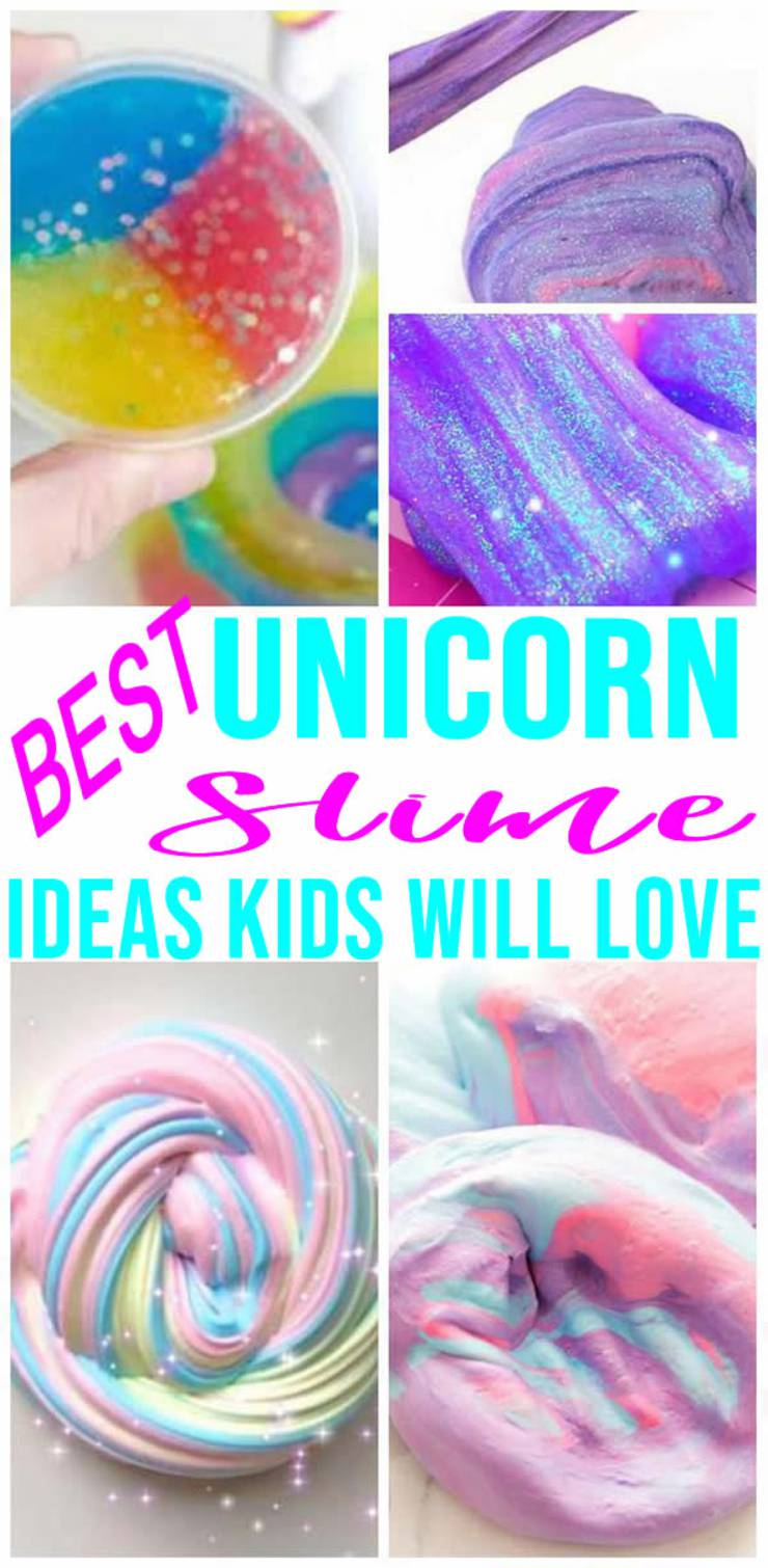 BEST Unicorn Slime Recipes! Easy Slime Ideas - DIY - How To Make - Quick & Simple Homemade Unicorn Slime - Poop - Fluffy - Glitter - Kids Party Favors