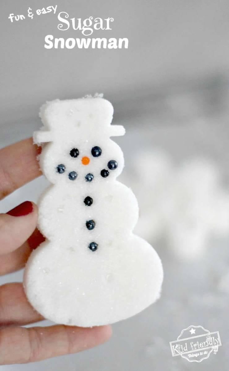 DIY cookie cutter kids winter crafts_snowman