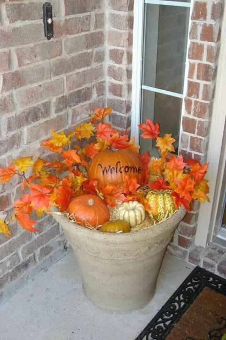 Fall Porch Decoration Idea_DIY