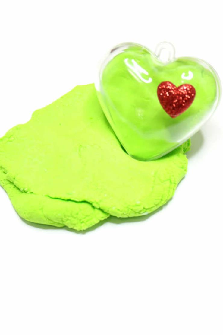Grinch Crafts | How To Make Edible Playdough | Easy DIY Edible Playdough Recipe No Cook - Christmas DIY Idea For Kids _ Grinch Party Favors
