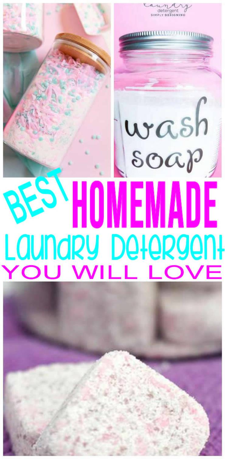 BEST Homemade Laundry Detergent! EASY Recipes - Powder - Liquid - Tabs - HE Safe