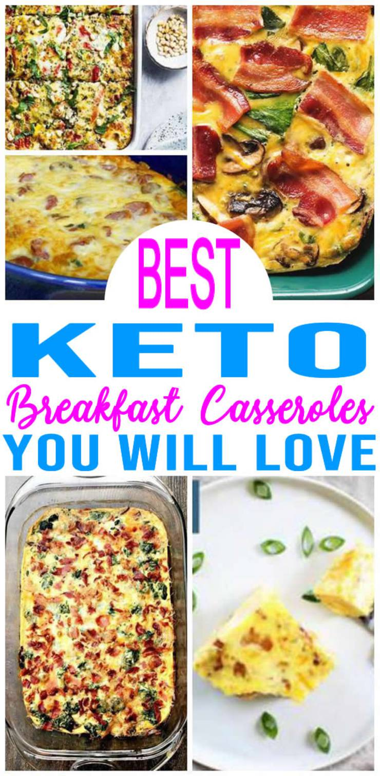 EASY Keto Breakfast Casserole! Low Carb Breakfast Ideas - Quick - Healthy - Mornings - Make Ahead - Ketogenic Diet Recipes