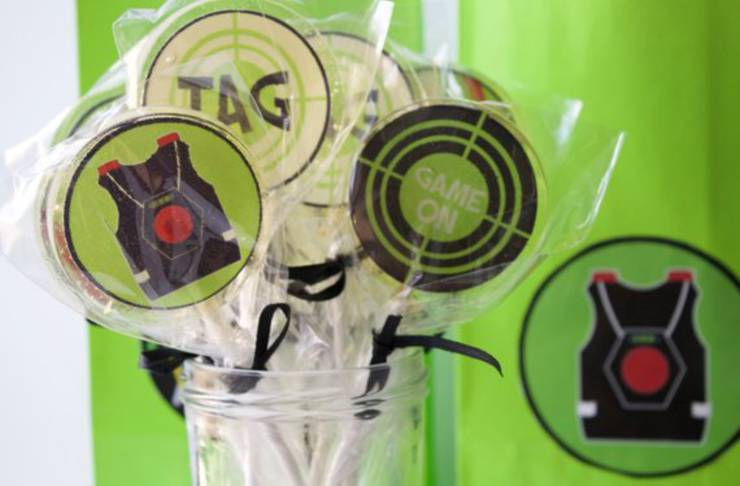 Laser Tag Party Lollipops
