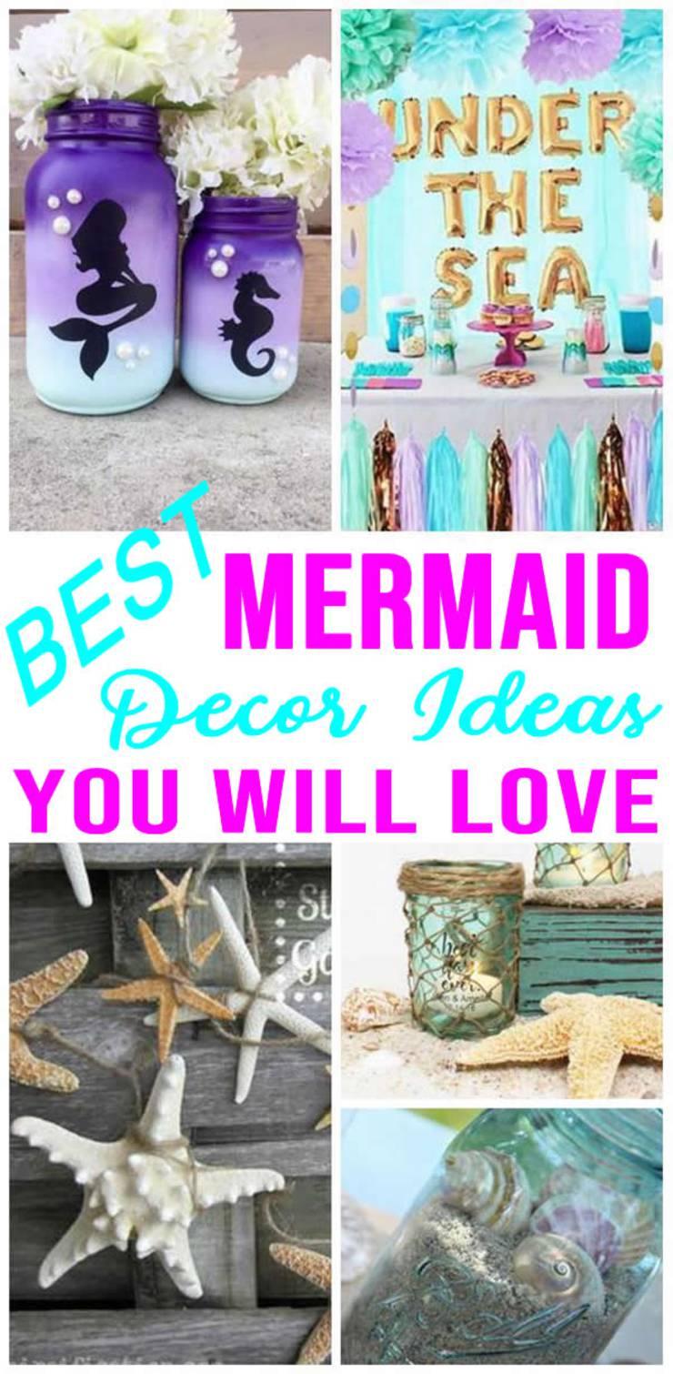 Best Mermaid Party Decorations Easy Diy Decor Ideas Under The Sea Theme
