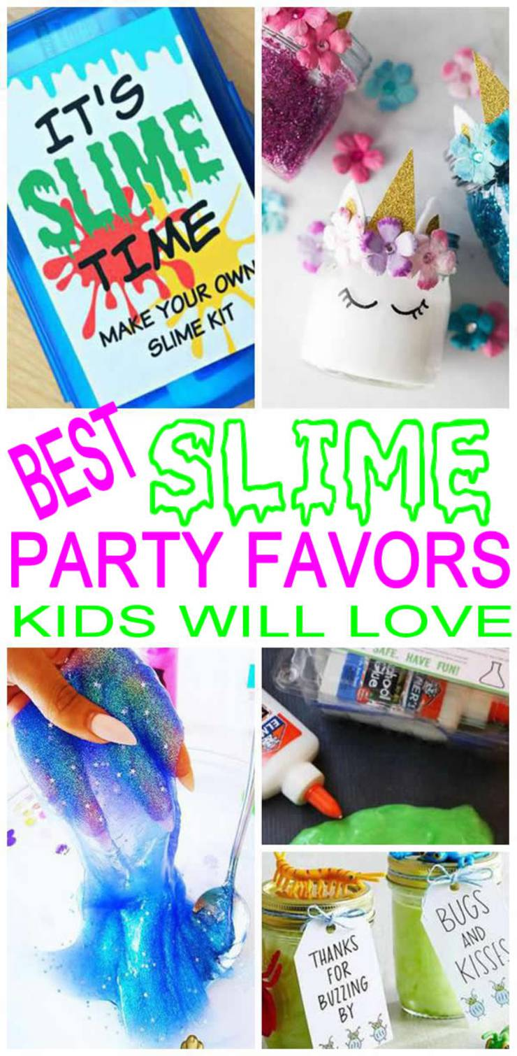 Slime Party Favor Ideas Kids Will Love