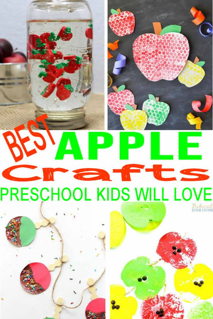 FUN Preschool Apple Crafts! BEST Apple Craft Ideas - Toddlers - Kids - Classroom - Art Projects
