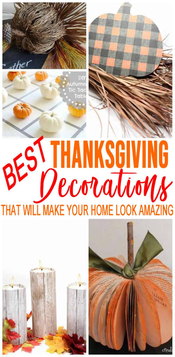 DIY Thanksgiving Decorations | Cheap – Easy Outside & Home Decor | Fun Ideas - Dollar Store - Centerpieces - Door - Porch - Simple Budget Friendly Holiday Crafts