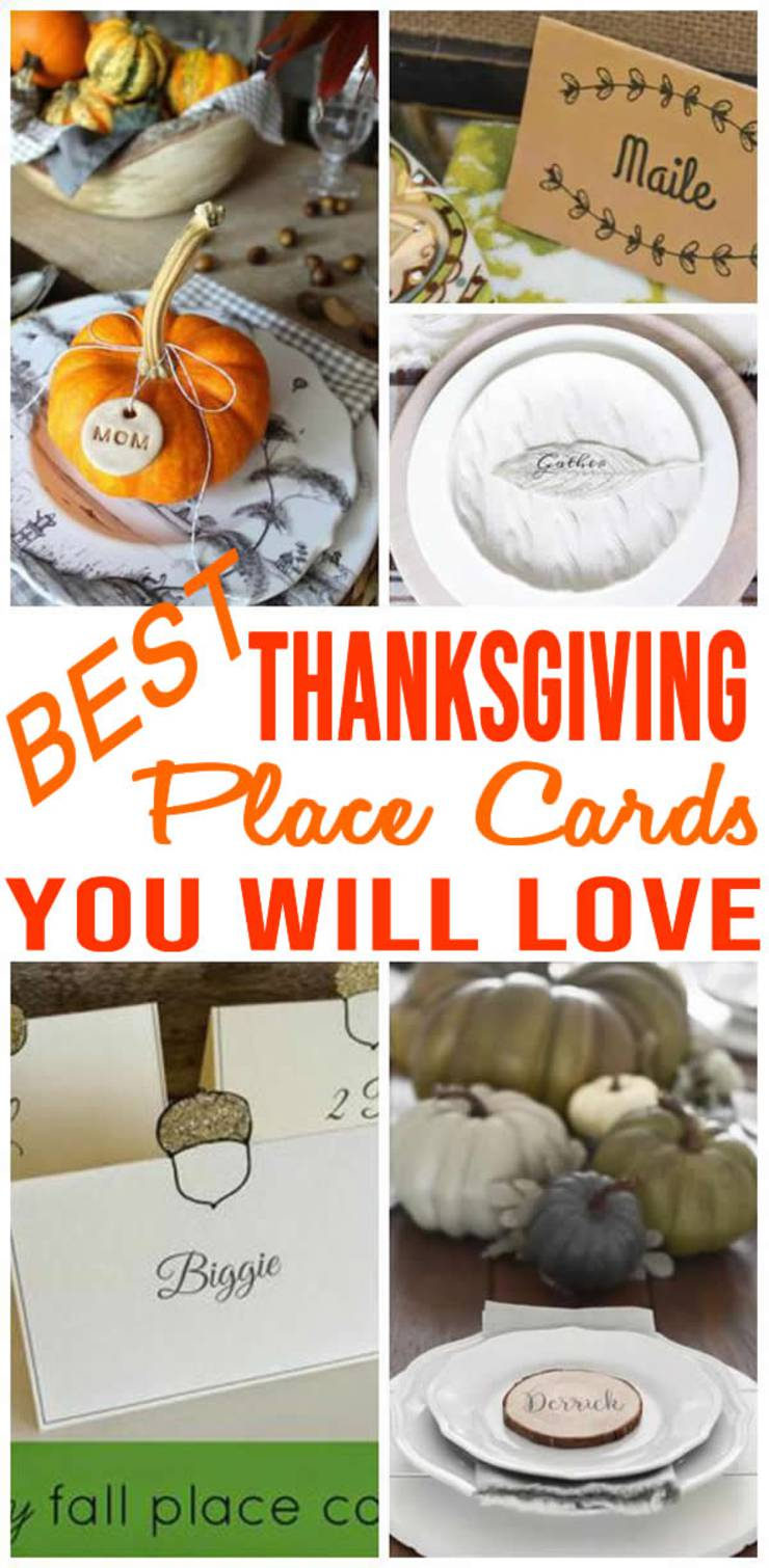 BEST Thanksgiving Place Cards! Easy & Simple Place Card Settings - DIY - Handmade - Printable & More
