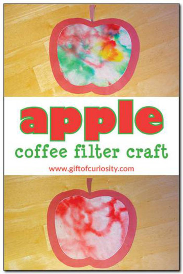 Apple Coffee Filter Craft
