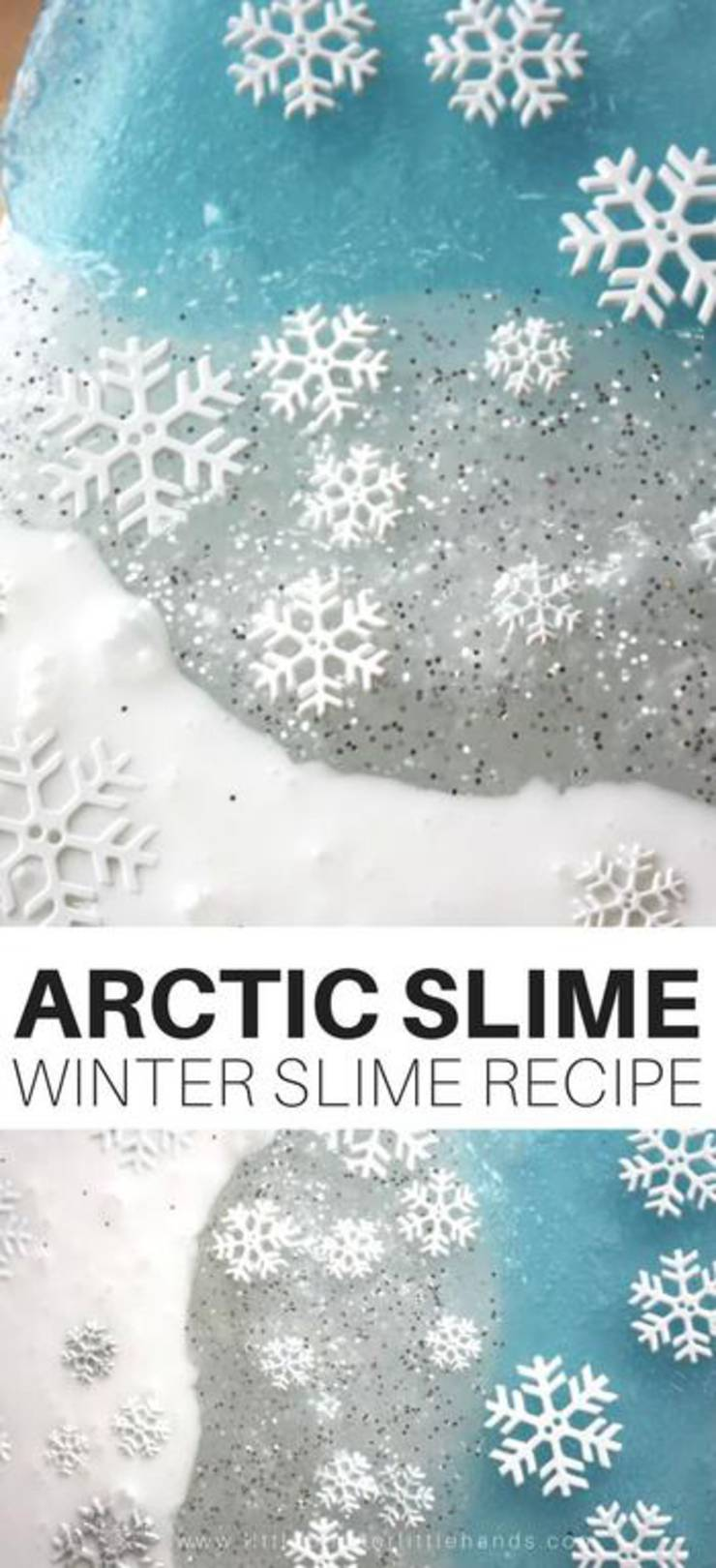 Arctic Slime - Christmas Slime! How To Make DIY Christmas Slime - Easy Homemade Recipes