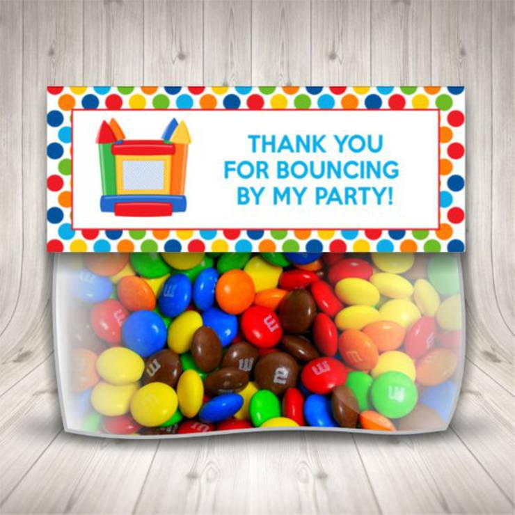 bounce house candy favors