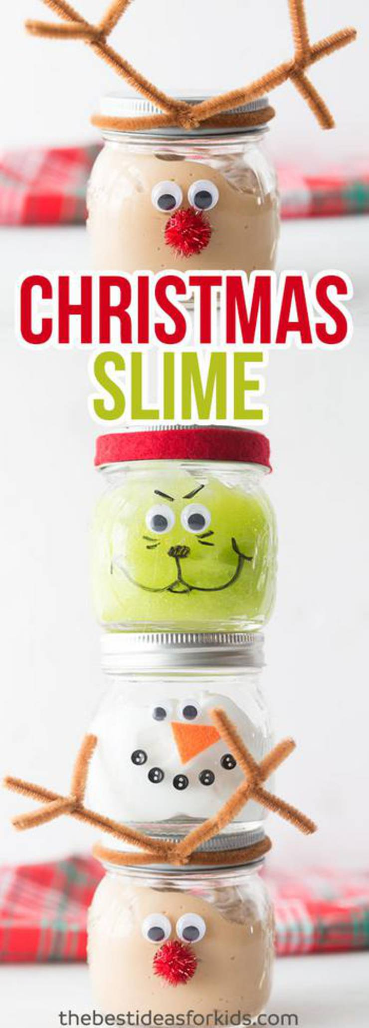 Diy Christmas Slime Jars - Christmas Slime! How To Make DIY Christmas Slime - Easy Homemade Recipes