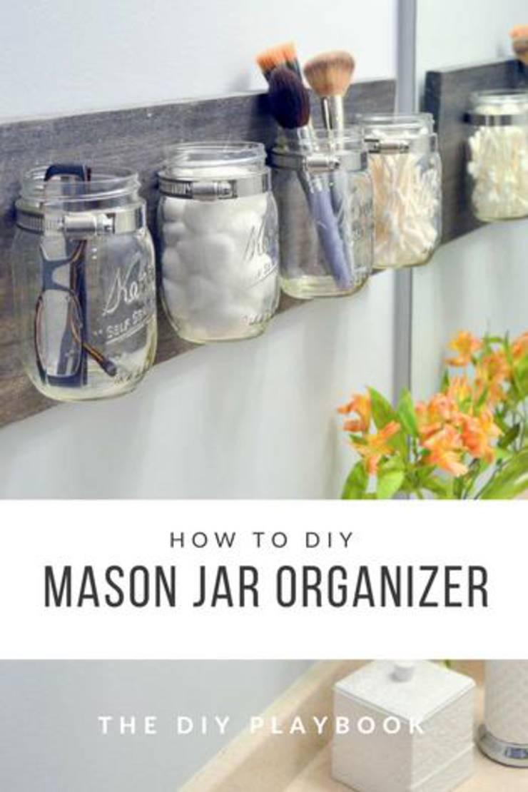 Best Diy Mason Jar Ideas Easy Simple Mason Jar Organization Tutorials Craft Rooms Makeup Brushes Kitchen Bathroom Sewing Awesome Creative Craft Projects