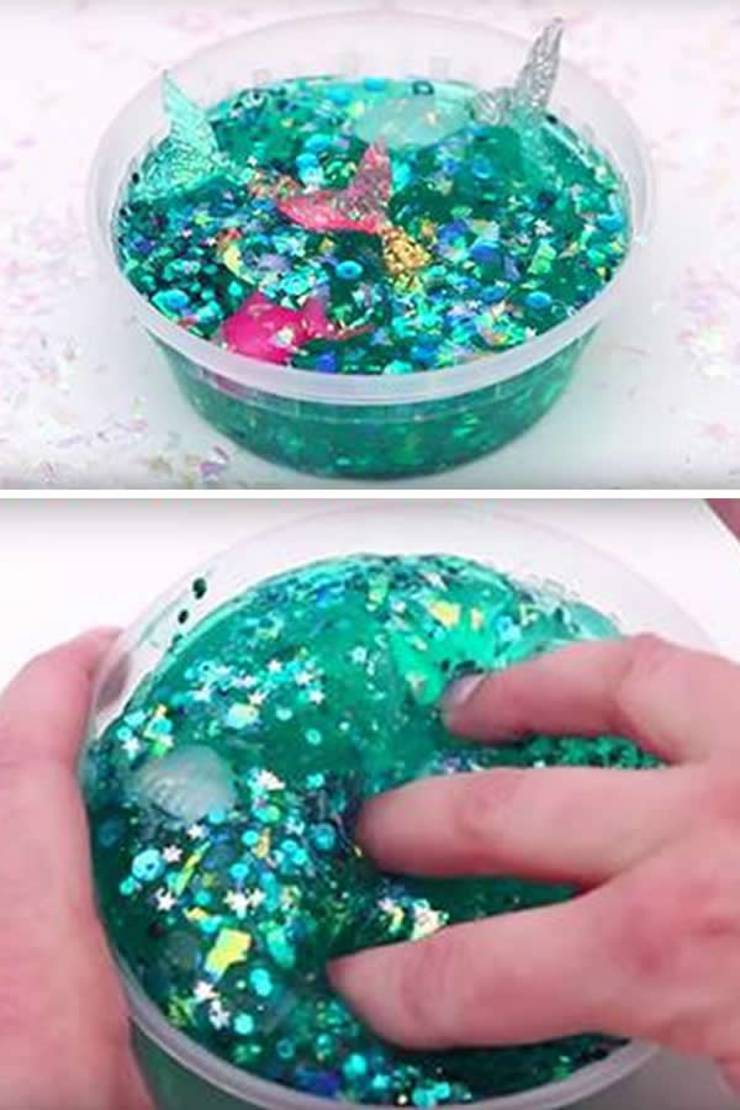 diy mermaid slime - easy slime recipe