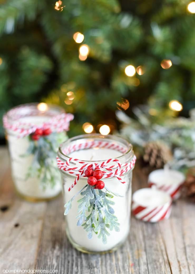 diy peppermint mason jar candle